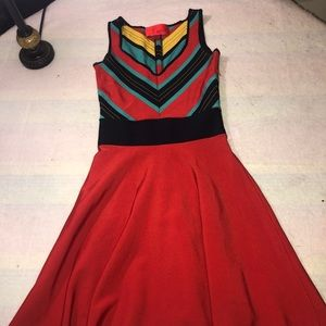 ZSpoke Zac Posen sleeveless multicolored dress ex